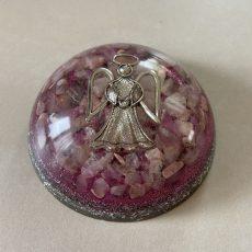 orgonite dome pierre quartz