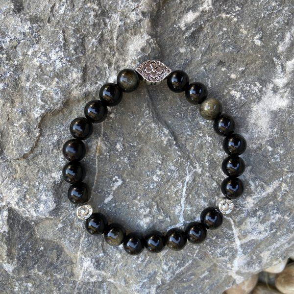 bracelet obsidienne